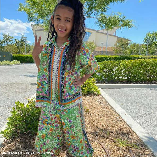 Royalty Brown Gucci Girl Mini-Me Green Silk Floral Print Bowling Shirt & Pants