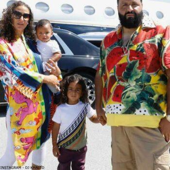 DJ Khaled & Asahd - Fendi Baby Boy White Diagonal FF Logo T-Shirt
