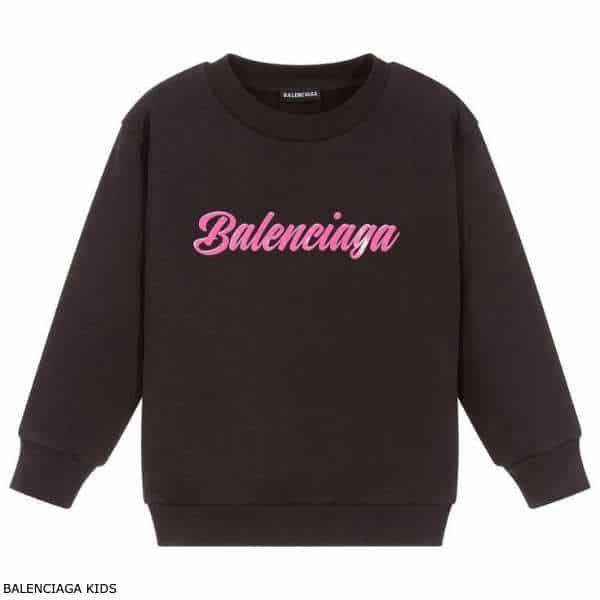 Balenciaga Kids Black Pink Logo Sweatshirt