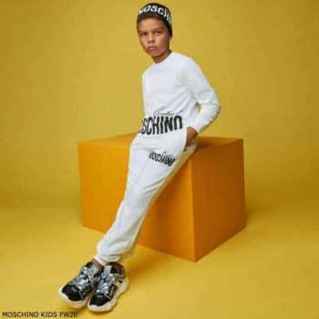 Moschino Kids Boys White Mini Me Couture Logo Sweatshirt & Joggers