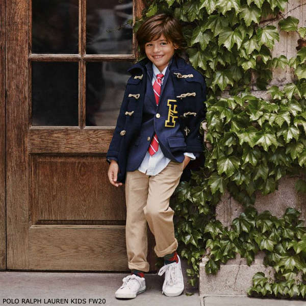 Polo Ralph Lauren Boys Preppy Blue & White Stripe Shirt Beige Chino Pants