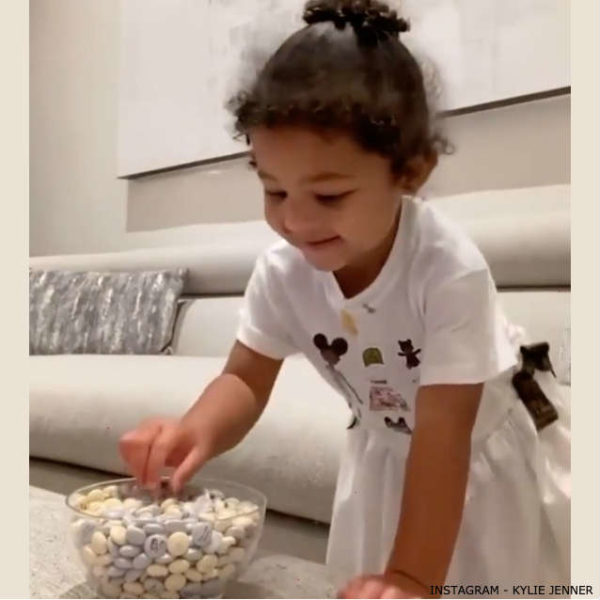 Stormi Webster Fendi Baby Girl White FF Friends Dress