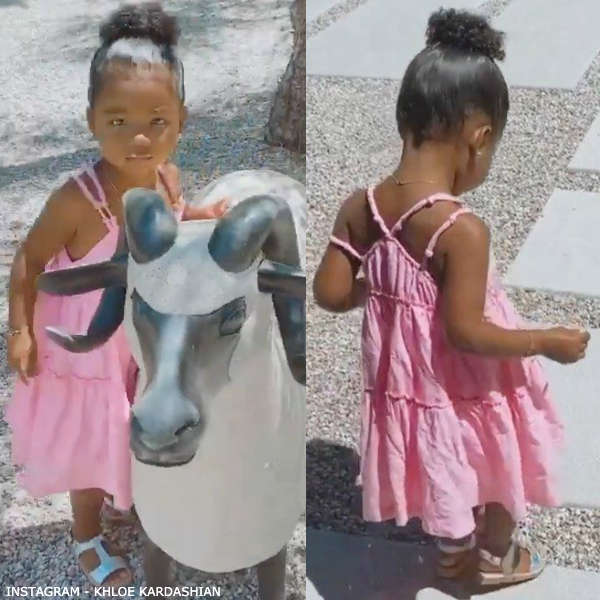 True Thompson Chloe Girls Pink Pleated Strap Sundress