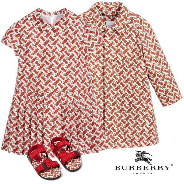 Burberry Girl Mini Me Red Monogram Silk Dress