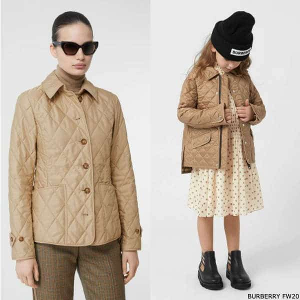 Burberry Girls Mini Me Beige Quilted Jacket