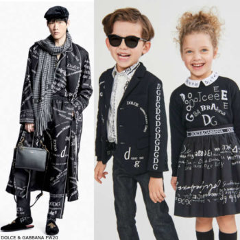 Dolce Gabbana Kids Mini Me Black White Logo Blazer Jacket Girls Dress