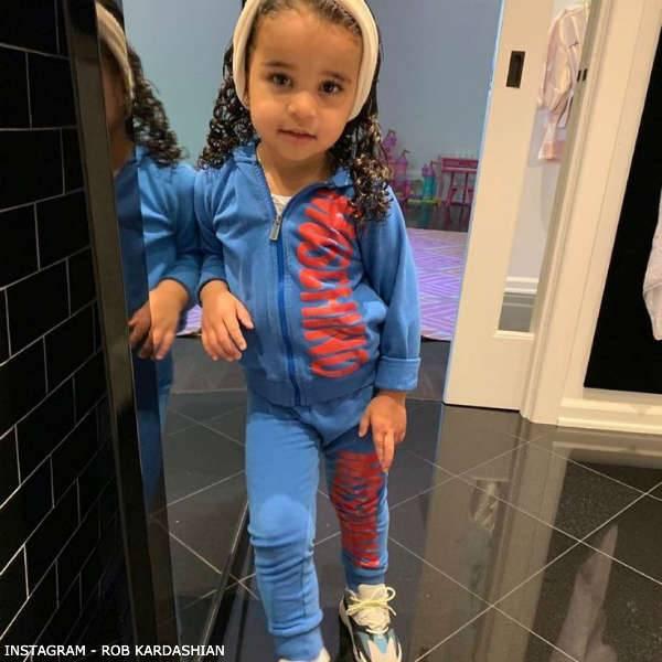 Dream Kardashian Moschino Baby Girl Blue Red Logo Tracksuit