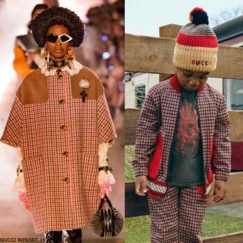 Gucci Boys Mini Me Red & Blue Check Jacket Pants