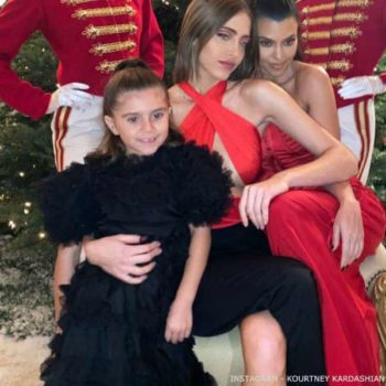 Kourtney Kardashian Penelope Disick Dolce Gabbana Girls Black Silk Organza Party Dress Christmas 2019