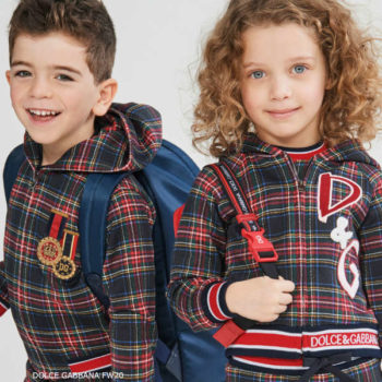 Dolce & Gabbana Kids Blue & Red Tartan Check Bomber Jacket Jogger Pants