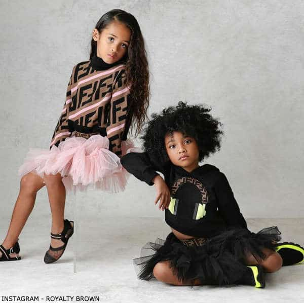 Royalty Brown Fendi Brown Pink Hooded Reloaded FF Logo Poncho