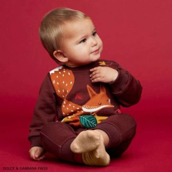 Dolce & Gabbana Baby Brown Fox Hoodie Jogger Tracksuit