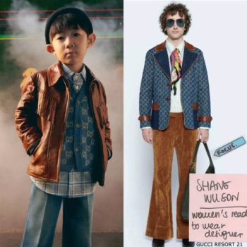 Gucci Boys Mini Me Blue Wool GG Vest & Blue Denim Flared Jeans