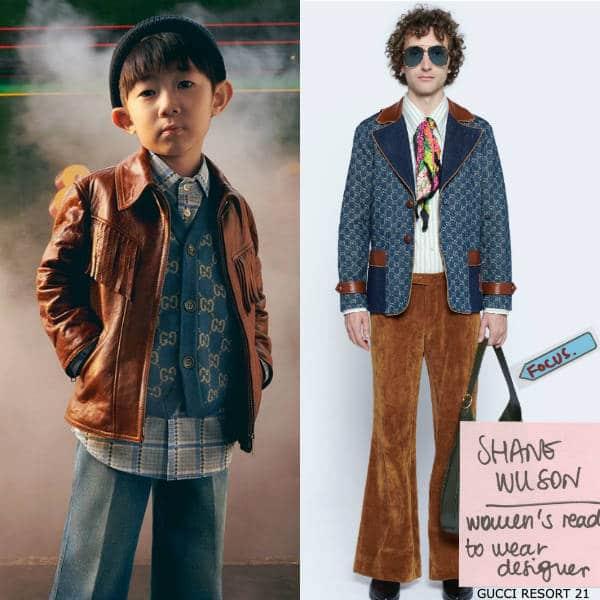 Gucci Boys Mini Me Blue Wool GG Vest & Blue Denim Flared Jeans