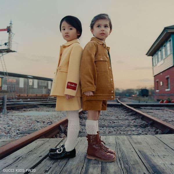 Gucci Little Boys Brown Corduroy Jacket & Shorts Suit