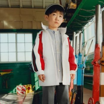 Gucci Boys White Red Web Windbreaker Sports Jacket