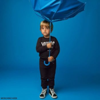 Moschino Kids Baby Black Couture Milano Logo Sweatshirt Joggers