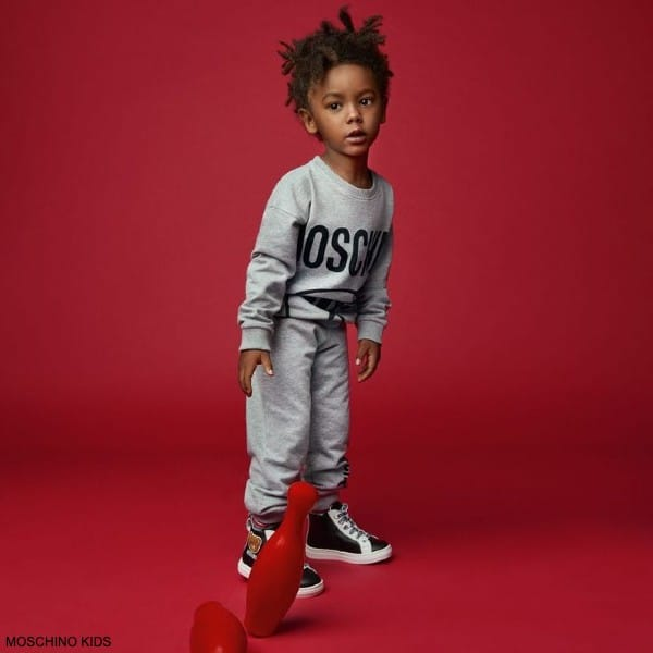 Moschino Kids Baby Grey Question Mark Logo Sweatshirt Joggers