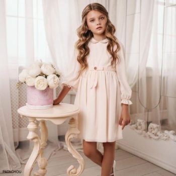 Patachou Kids Girls Pink Chiffon Dress Special Occasion Dress