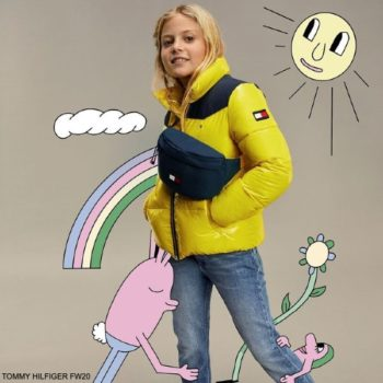 Tommy Hilfiger Kids Bright Valley Yellow Shine Puffer Jacket