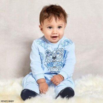 Kenzo Baby Boys Light Blue Organic Tiger Dragon Logo Sweatshirt Joggers