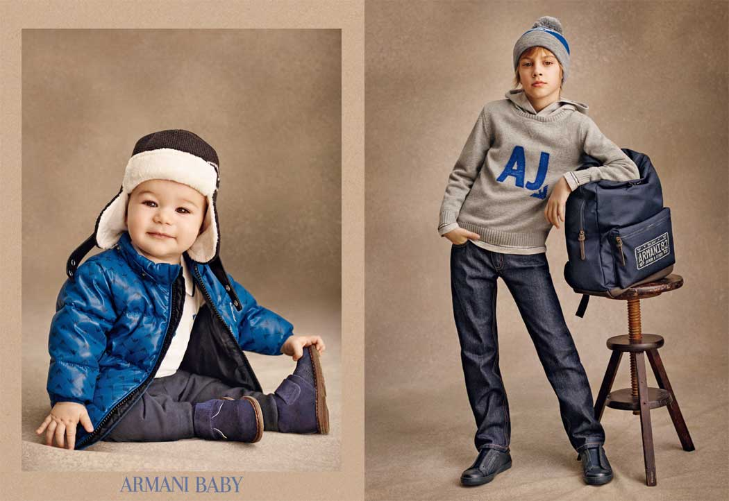 armani junior boys clothes