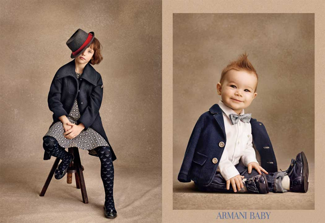 armani junior girl and baby boy