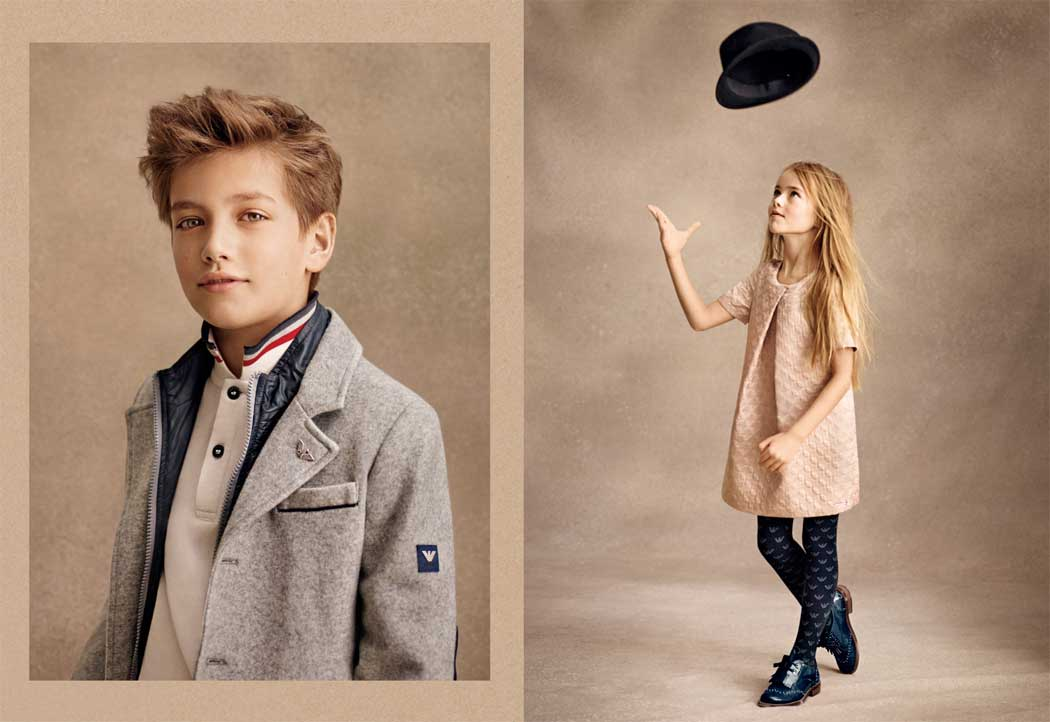 armani junior girl and boy