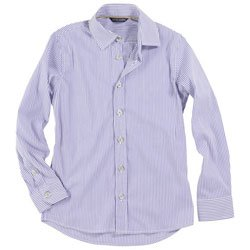 aston martin blue and white striped shirt