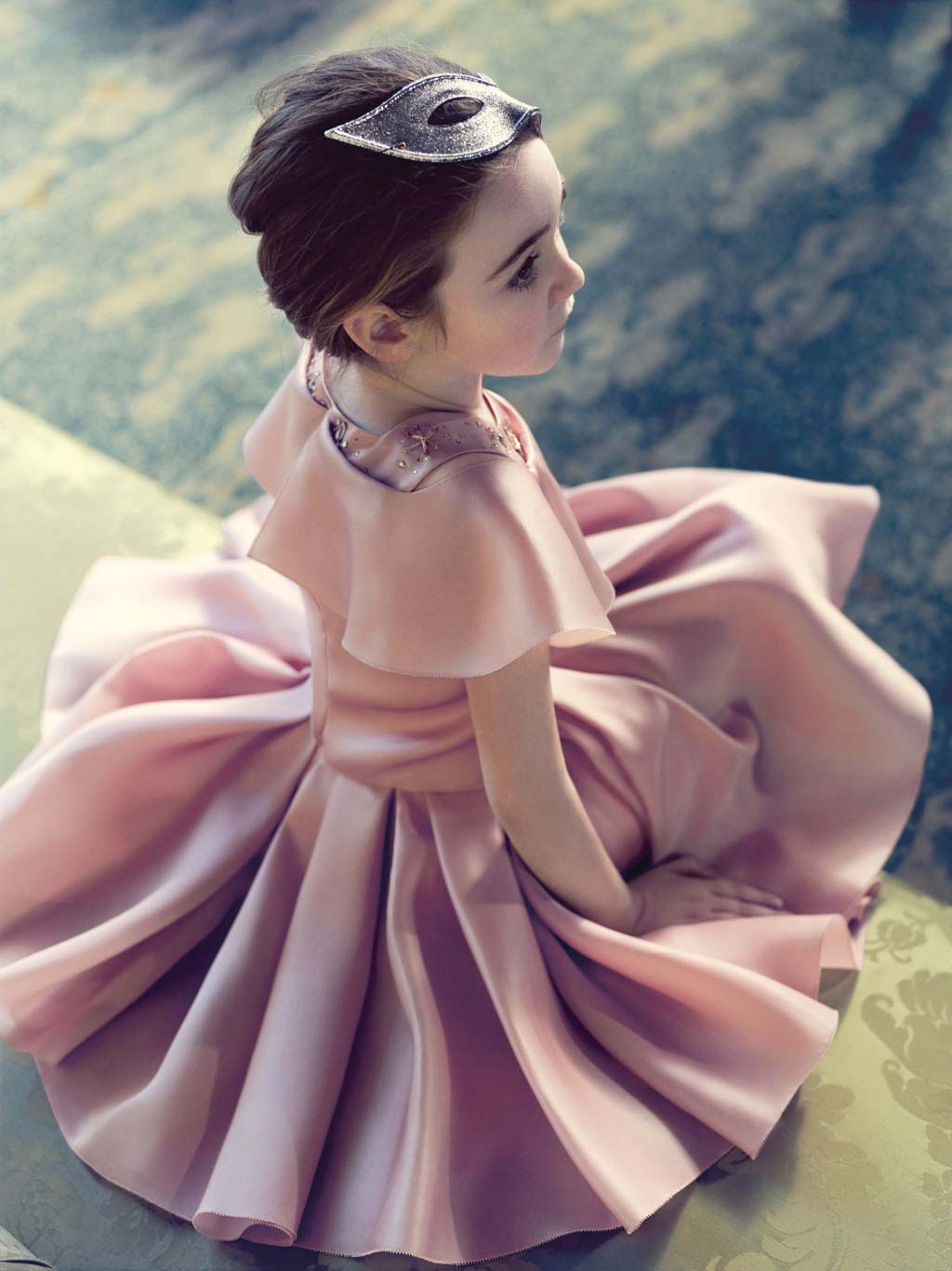 baby dior girls fall winter 2014 pink party dress