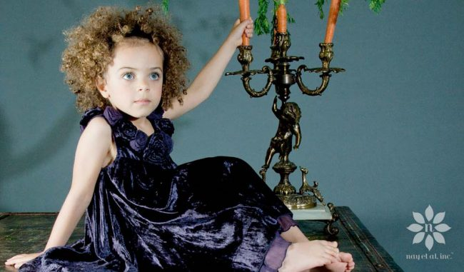 baby nay girls purple dress fall winter 2014