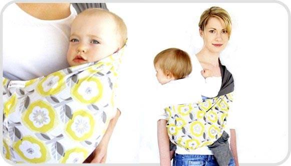 beep beep baby sling yellow