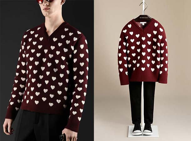 Burberry Daddy Boy Heart Holiday 2013