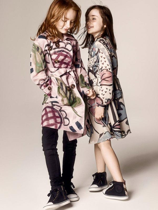 burberry girls clothes fall winter 2014