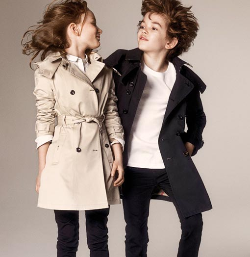 burberry kids trench coat