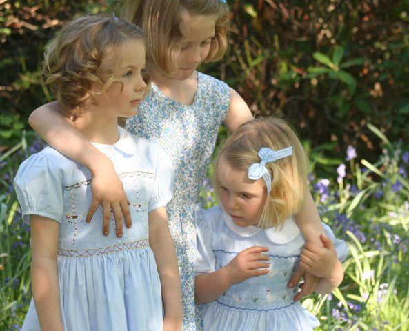 Annafie Hand Smocked Girls Dresses