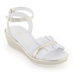 I Pinco Pallino White and gold leather sandals