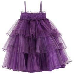Junior Gaultier Girls Purple Tulle Dress