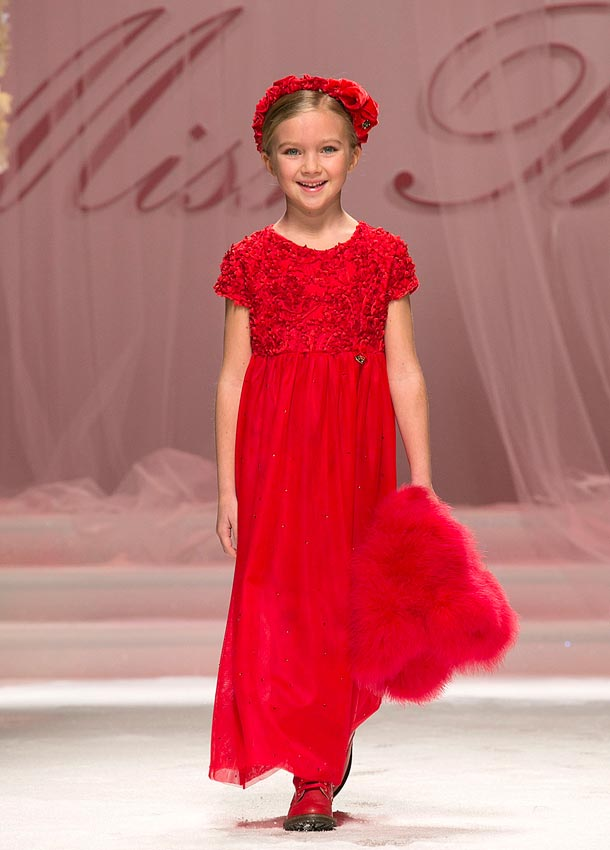 MISS BLUMARINE girl fw14 red dress