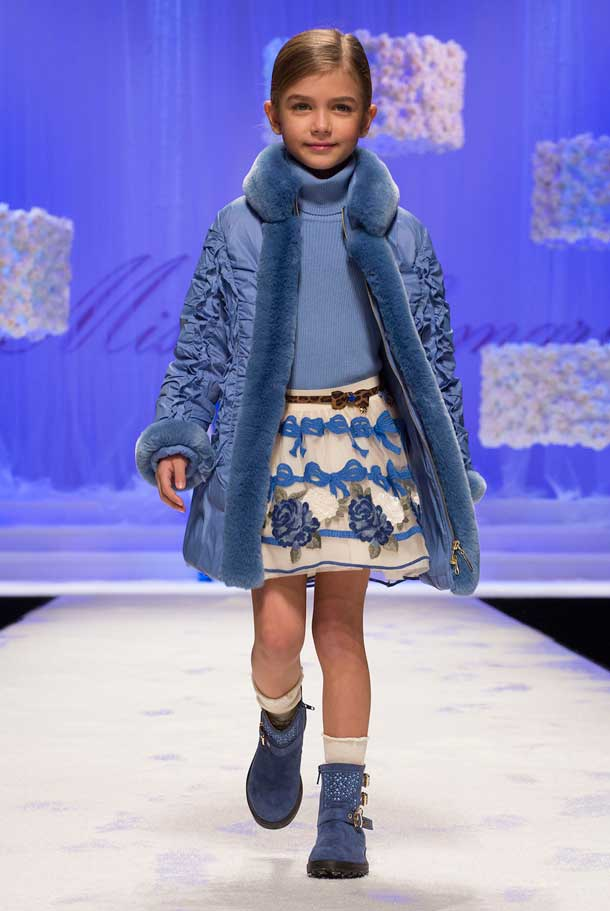 MISS BLUMARINE girls blue outfit