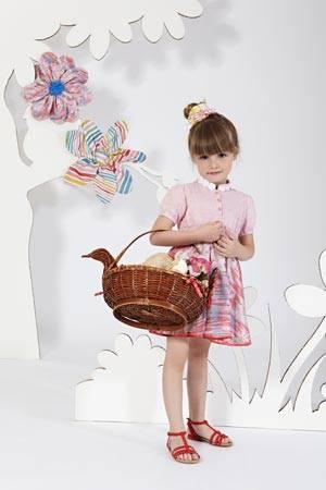 MISSONI girl red pink dress spring summer 2014