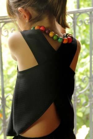 MOTORETA girls black summer shirt