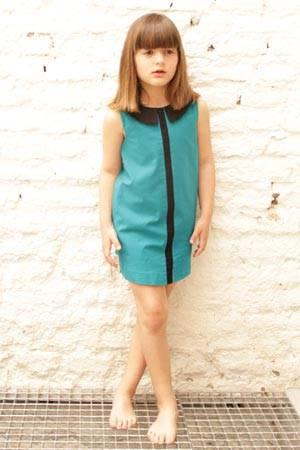 MOTORETA girls blue dress ss14