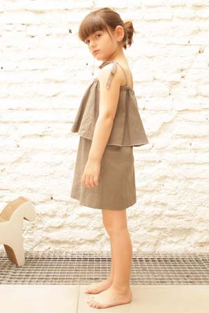MOTORETA girls tan dress