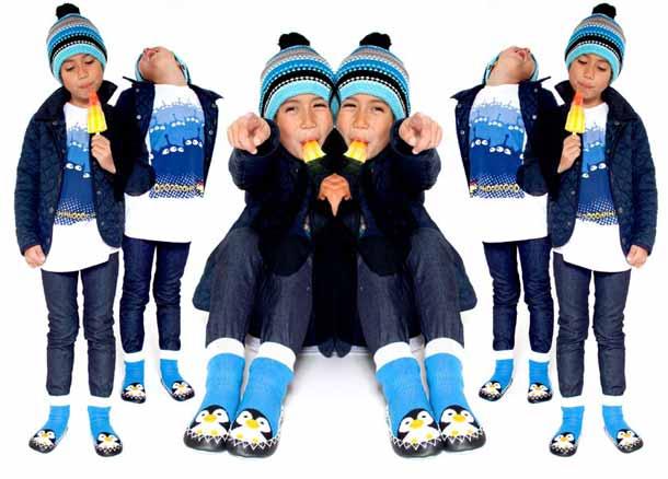 Moccis kids penguin slippers