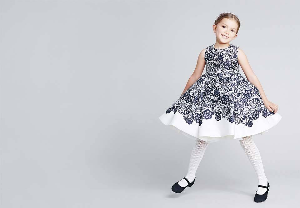 Dolce Gabbana Girls Black White Dress