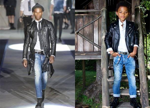 Dsquared2 Kids Boys Spring Summer 2014 Leather Jacket