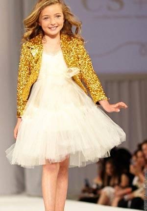 es es girls white tulle dress