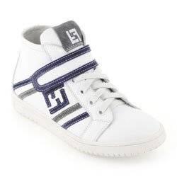 fendi White leather high trainers