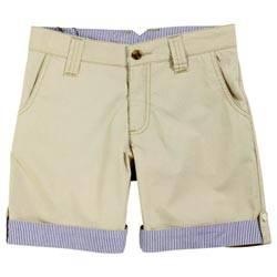 Hackett London Boys Sand Beige Crisp Percale Shorts